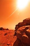 Planète inconnue Photos stock