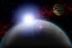 Planète inconnue Colorez l'étoile, le soleil, lune, étoiles, nébuleuse de l'espace Base : phototextures du ` s d'auteur Photos libres de droits