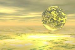 Planète jaune Image libre de droits
