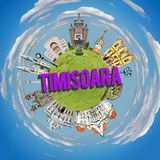 planète minuscule de timisoara illustration stock