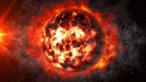 Planète morte étonnante illustration libre de droits