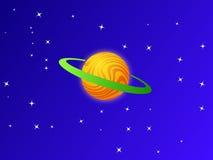 Planète orange sur le ciel bleu Photos stock