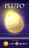 Planète Pluton dans le système solaire Photos stock