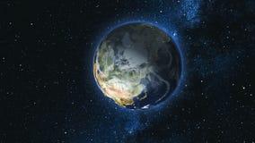 Planète réaliste de la terre contre le le ciel d'étoile Images stock