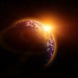 Planète réelle de la terre Photo stock