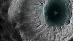 Planète reliée au réseau moléculaire de fond abstrait de mouvement de particules belle animation pilotant le clignotement brillan photos libres de droits