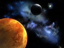 Planète rouge illustration de vecteur