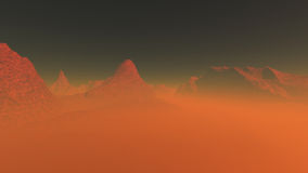 Planète rouge 3 Image libre de droits