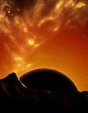 Planète rouge terrestre Photo stock