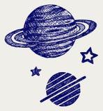 Planète Saturne illustration stock