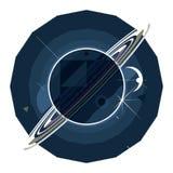 Planète Saturne avec des boucles Photos libres de droits