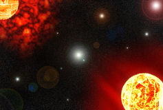 Planète solaire Photographie stock