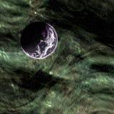 Planète sur le fond du cosmos Image libre de droits