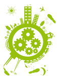 Planète verte Photographie stock