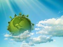 Planète verte Photos stock
