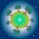 Planète verte Images stock
