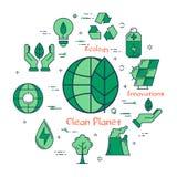 Planète verte Concept de futures innovations Illustration Stock
