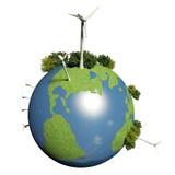 planète verte de la terre Images libres de droits