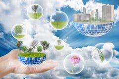 Planète verte pour la terre. Photographie stock libre de droits