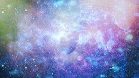 Planètes, étoiles et galaxies dans l'espace extra-atmosphérique montrant la beauté de l'exploration d'espace Éléments meublés par Images libres de droits