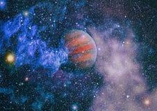 Planètes, étoiles et galaxies dans l'espace extra-atmosphérique montrant la beauté de l'exploration d'espace Éléments meublés par Photographie stock