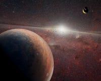 Planètes étrangères dans l'espace extra-atmosphérique Éléments de cette image meublés par la NASA photos stock