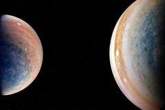 Planètes étrangères dans l'espace extra-atmosphérique photo libre de droits
