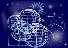 planètes illustration stock