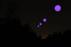 Planètes alignées Image libre de droits