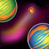 Planètes colorées d'imagination illustration de vecteur