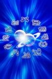 planètes d'astrologie Image stock