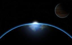 Planètes dans l'espace Photographie stock
