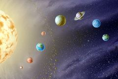 Planètes du système solaire Photo stock