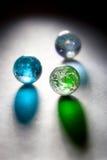 Planètes en verre de concept image stock