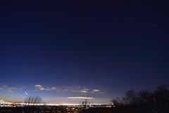 Planètes et étoiles Newark NJ traînée plate Image stock