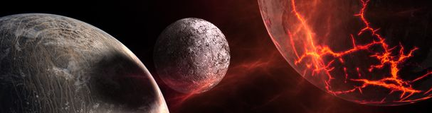Planètes et galaxie, papier peint de la science-fiction illustration de vecteur