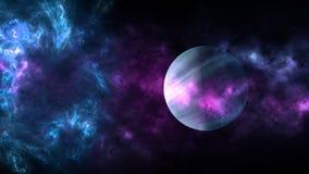 Planètes et galaxie, papier peint de la science-fiction Beauté d'espace lointain photos stock