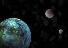 Planètes galactiques sur le fond noir illustration libre de droits
