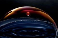 Planètes liquides dans l'espace Images stock