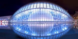 Planétarium de Hemisferic à Valence Image libre de droits