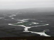Planície de inundação da geleira em Islândia Fotos de Stock Royalty Free
