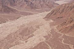 Planície de inundação do deserto, Nasca Foto de Stock