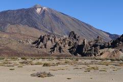 Planície do vulcão de Teide imagem de stock