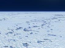 Planície nevado ilustração stock