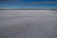 Planície nevado imagem de stock