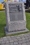 Planícies de Abraham Signboard Stone de Cidade de Quebec velha em Canadá imagens de stock royalty free