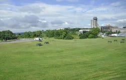 Planícies do parque de Abraham de Cidade de Quebec velha em Canadá fotos de stock