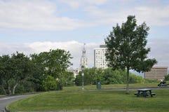 Planícies do parque de Abraham de Cidade de Quebec velha em Canadá imagens de stock