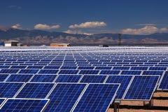 Plan à énergie solaire photo stock