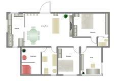 Plan à la maison Photos stock